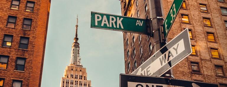 纽约的地平线上