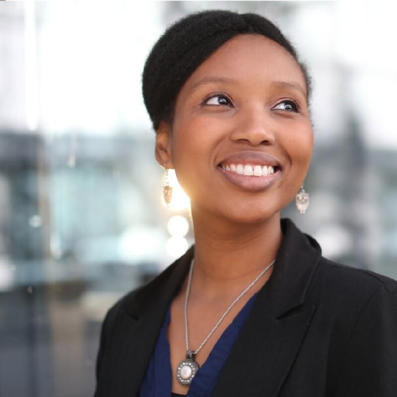 Black female smiling