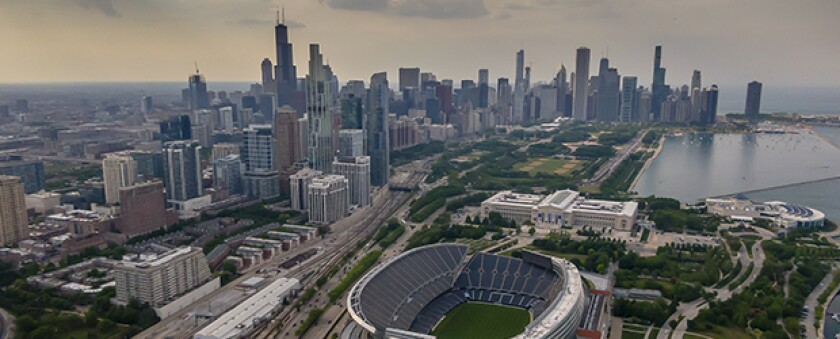 Overhead-photo-of-a-sports-stadium-in-a-major-city