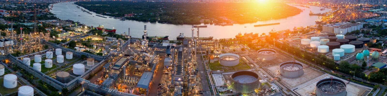 Refinery off the Gulf Coast