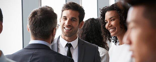 Professionals Networking at Event