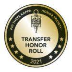 Phi Theta Kappa Honor Society Transfer Honor Roll 2021