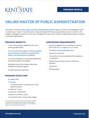 Online graduate programs in public administration application checklist