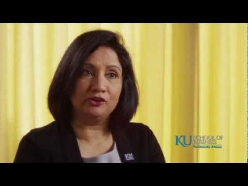 Neeli Bendapudi on the KU MBA