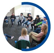 Students meet in person with faculty