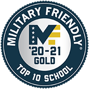 Military Friendly Top 10 School '20-21 Gold