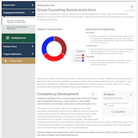 Online dashboard within learner management system