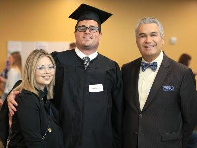 CSUMB Graduate with Family