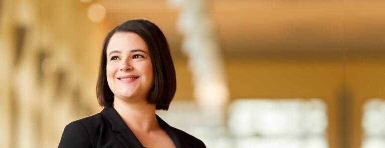Marquette graduate business student smiles