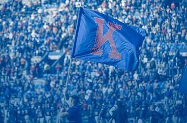 KU flag waving