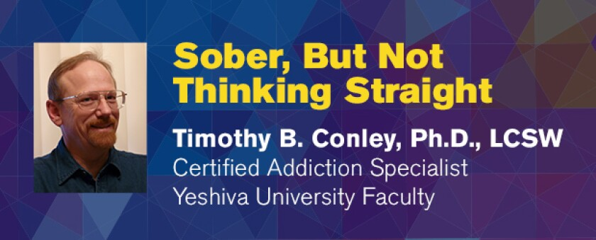 Photo of Timothy Conley; Sober but not thinking straight on image background