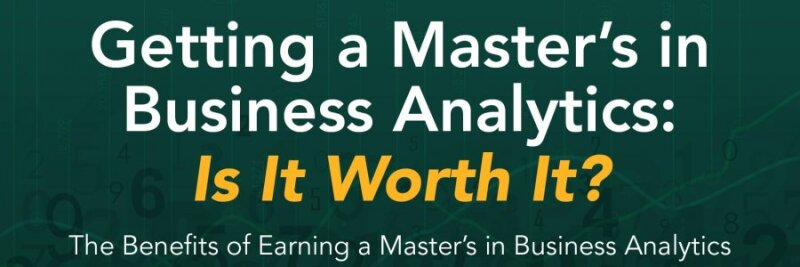 Getting a Master's in Business Analytics infographic