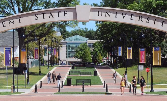 Kent State University campus view