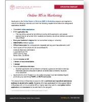 MS in Marketing Application Checklist
