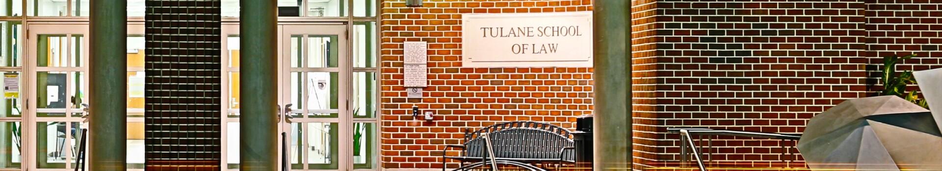 Tulane University Law School building