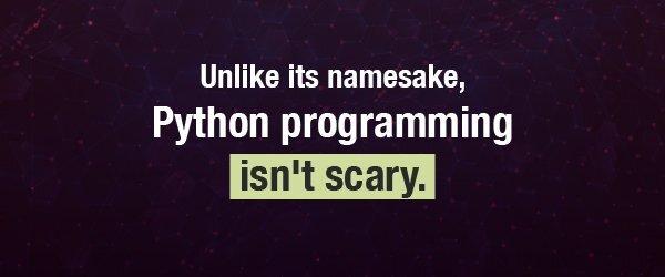 Unlike its namesake, the Python programming language isn't scary
