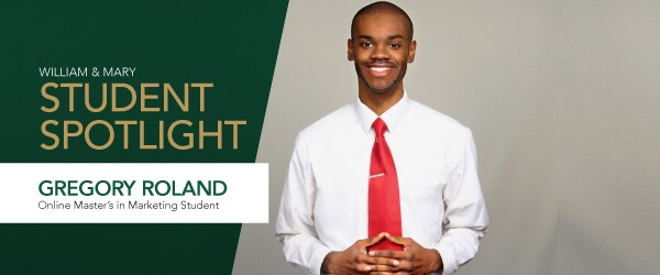 Online Master's in Marketing student Gregory Roland