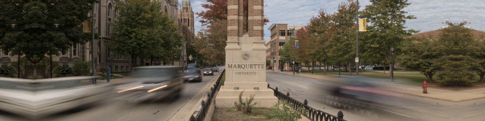Marquette University tower on campus