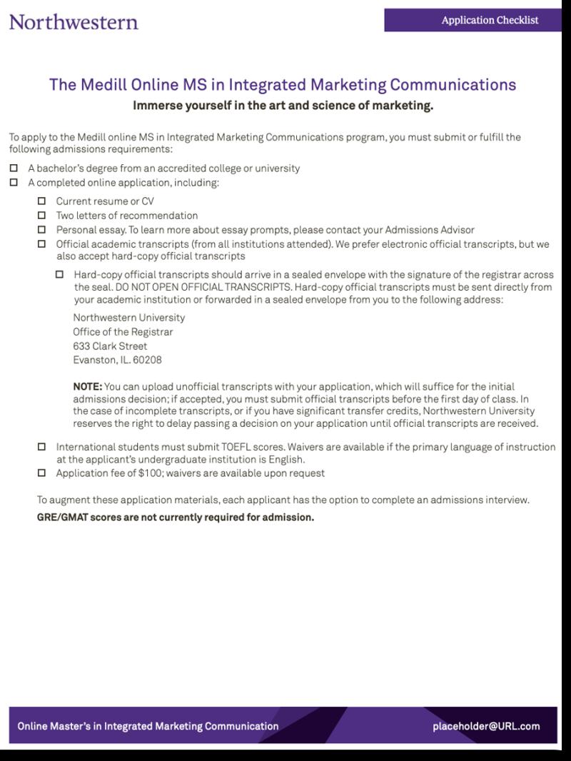 Application checklist thumbnail
