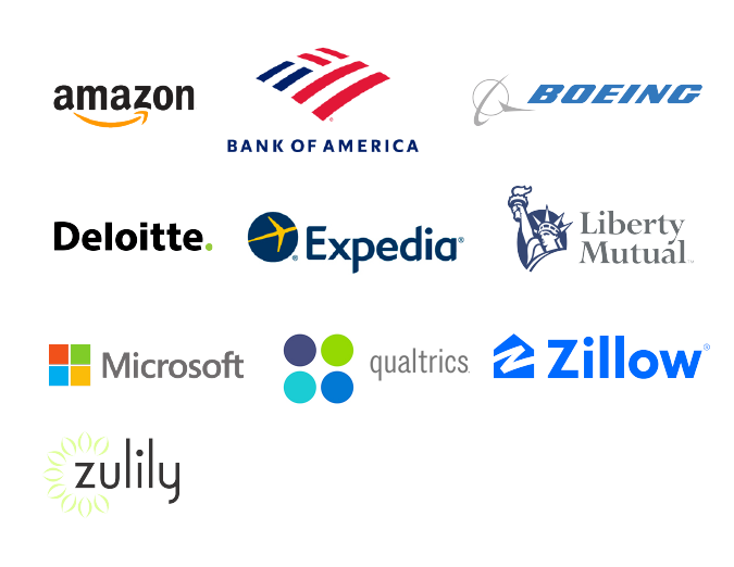 Albers MSBA graduate employer logos