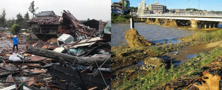 Typhoon Hagibis destruction