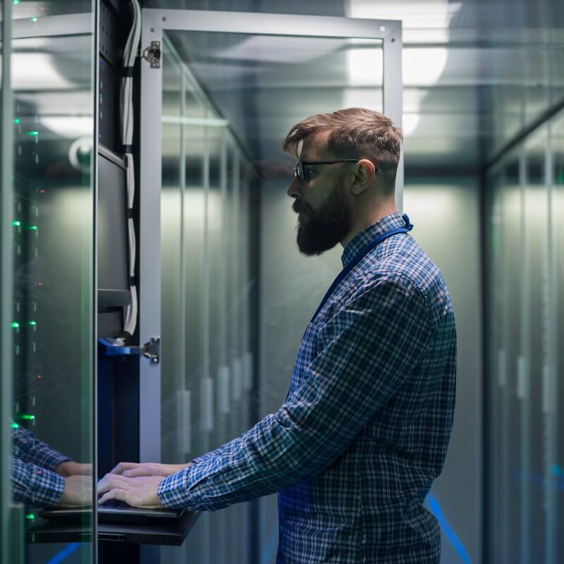 man-working-in-server-room